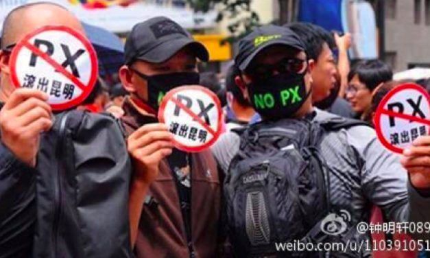Milieu protest in Maoming