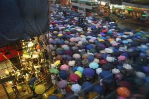 Demonstranten in Hong Kong eisen democratie
