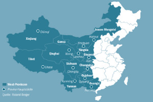 Provincies in Westen van China (Bron: Roland Berger)