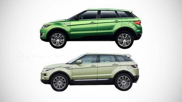 Land Rover Evoque vs. Landwind X7