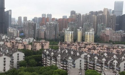 Lege huizen in Centraal China